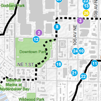 on bellevue square map